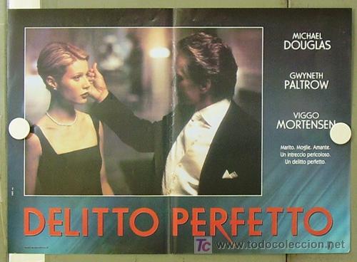 Cine: YE86D UN CRIMEN PERFECTO GWYNETH PALTROW MICHAEL DOUGLAS MORTENSEN SET DE 6 POSTERS ITALIANO 47X68 - Foto 2 - 10143799