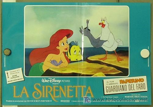 Cine: FM61 LA SIRENITA WALT DISNEY SET 6 POSTERS ORIGINALES ITALIANOS 47X68 - Foto 2 - 10144484