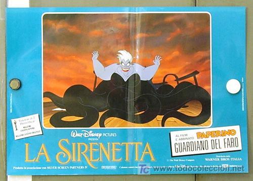 Cine: FM61 LA SIRENITA WALT DISNEY SET 6 POSTERS ORIGINALES ITALIANOS 47X68 - Foto 5 - 10144484