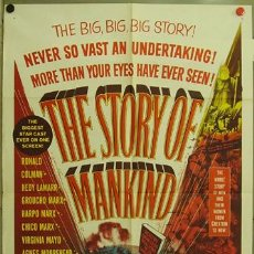 Cine: YV81D THE STORY OF MANKIND HERMANOS MARX VINCENT PRICE POSTER ORIGINAL AMERICANO 70X105. Lote 10150034