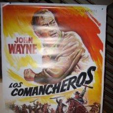 Cine: LOS COMANCHEROS POSTER ORIGINAL 70X100 DISEÑO MATAIX. Lote 27548160