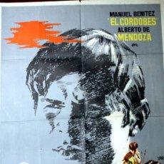 Cine: CHANTAJE A UN TORERO (CARTEL ORIGINAL DE JANO1963 ) MANUEL BENITEZ EL CORDOBES. Lote 15930257