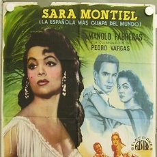 Cine: FO99 PIEL CANELA SARA MONTIEL POSTER ORIGINAL 70X100 ESTRENO. Lote 18603431