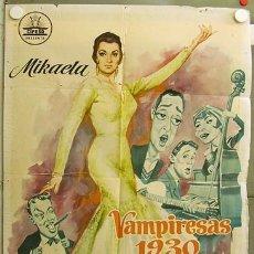 Cine: FO94 VAMPIRESAS 1930 JESUS FRANCO MIKAELA LINA MORGAN POSTER ORIGINAL ESTRENO 70X100. Lote 13425265