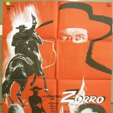 Cine: FP64 LA VENGANZA DEL ZORRO FRANK LATIMORE ROMERO MARCHENT SPAGHETTI POSTER ORIGINAL 70X100. Lote 10261295