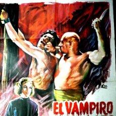 Cine: EL VAMPIRO SANGRIENTO ( CARTEL 0RIGINAL DEL ESTRENO EN ESPAÑA 1963) DIRECTOR MIGUEL MORAYTA. Lote 21011519
