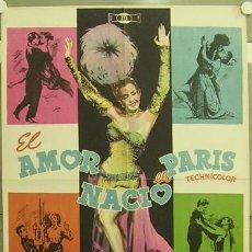 Cine: FS68 EL AMOR NACIO EN PARIS KATHRYN GRAYSON RED SKELTON ANN MILLER KEEL POSTER ORIG 70X100 ESTRENO. Lote 10334539