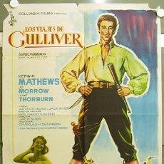 Cine: TJ15D LOS VIAJES DE GULLIVER RAY HARRYHAUSEN KERWIN MATHEWS POSTER ORIGINAL 70X100 ESTRENO. Lote 10335132