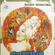 Cine: FT37 SAMBA SARA MONTIEL RAFAEL GIL POSTER ORIGINAL 70X100 ESTRENO. Lote 10436993