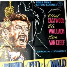 Cine: EL BUENO EL FEO Y EL MALO (CARTEL ORIGINAL DE REGIA FILMS ARTURO GONZALEZ DE SU ESTRENO EN ESPAÑA). Lote 22823845