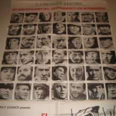 Cine: EL DIA MAS LARGO - JOHN WAYNE - POSTER CARTEL ORIGINAL ORIGINAL - NORMANDIA 2ª GUERRA MUNDIAL. Lote 10394188