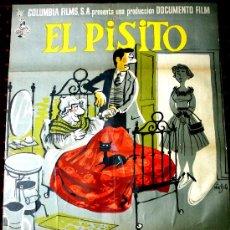 Cine: EL PISITO (CARTEL ORIGINAL RESTAURADO DEL ESTRENO 1958 ) DISEÑO MINGOTE JOSE LUIS LOPEZ VAZQUEZ. Lote 20912483