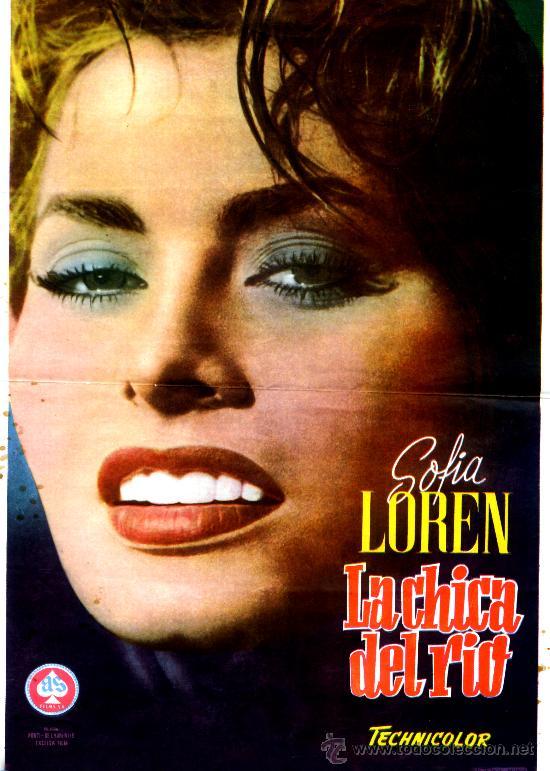 LA CHICA DEL RIO (CARTEL ORIGINAL DEL ESTRENO EN ESPAÑA DE AS FILMS 1955) SOPHIA LOREN (Cine - Posters y Carteles - Aventura)
