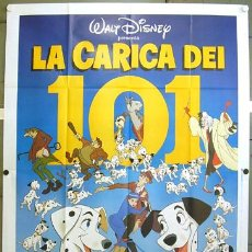 Cine: QJ16 101 DALMATAS WALT DISNEY POSTER ORIGINAL ITALIANO 140X200. Lote 12519755