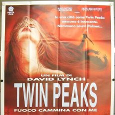 Cine: XB42D TWIN PEAKS DAVID LYNCH POSTER 140X200 ORIGINAL ITALIANO. Lote 15710382