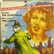 Cine: FY59 EL HOMBRE QUE LOGRO SER INVISIBLE ARTURO DE CORDOVA PERIS POSTER ORIGINAL 70X100 ESTRENO. Lote 10613931