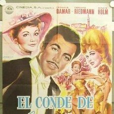 Cine: FZ04 EL CONDE DE LUXEMBURGO GERHARD RIEDMANN RENATE HOLM POSTER ORIGINAL 70X100 ESTRENO. Lote 10626724