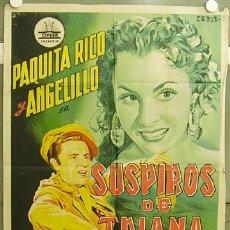 Cine: FZ09 SUSPIROS DE TRIANA PAQUITA RICO ANGELILLO CIFESA POSTER ORIGINAL 70X100 ESTRENO LITOGRAFIA. Lote 10628479