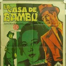 Cine: FZ31 LA CASA DE BAMBU ROBERT RYAN SAMUEL FULLER SOLIGO POSTER ORIGINAL 70X100 ESPAÑOL. Lote 13697924