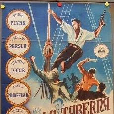 Cine: VX72D LA TABERNA DE NUEVA ORLEANS ERROL FLYNN POSTER ORIGINAL 70X100 ESTRENO LITOGRAFIA. Lote 18107432