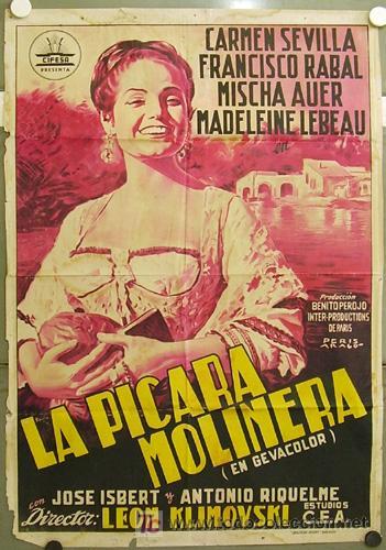 FZ86 LA PICARA MOLINERA CARMEN SEVILLA CIFESA POSTER ORIGINAL ESTRENO 70X100 LITOGRAFIA (Cine - Posters y Carteles - Clasico Español)