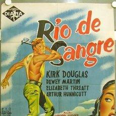 Cine: OZ76D RIO DE SANGRE KIRK DOUGLAS HOWARD HAWKS POSTER ORIGINAL ESTRENO 70X100 LITOGRAFIA. Lote 20511194