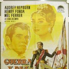 Cine: FZ70 GUERRA Y PAZ AUDREY HEPBURN POSTER ORIGINAL 70X100 ESTRENO. Lote 22009831