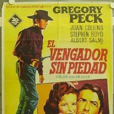 Cine: ZK60D EL VENGADOR SIN PIEDAD GREGORY PECK SOLIGO POSTER ORIGINAL 70X100 ESTRENO LITOGRAFIA. Lote 12222891