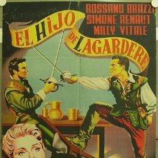Cine: GA25 EL HIJO DE LAGARDERE ROSSANO BRAZZI MILLY VITALE POSTER ORIGINAL 70X100 ESTRENO LITOGRAFIA. Lote 10676699