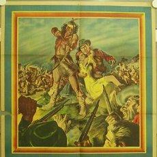 Cine: XI69D FLECHA ROTA JAMES STEWART DEBRA PAGET JEFF CHANDLER POSTER ORIG ARGENTINO 75X110 LITOGRAFIA. Lote 18311849