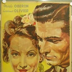 Cine: GA58D DIVORCIO DE LA SEÑORITA X OBERON LAURENCE OLIVIER VENTURI POSTER ARGENTINO 75X110 LITOGRAFIA. Lote 18164575