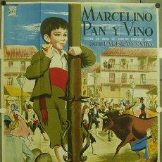 Cine: GA90 MARCELINO PAN Y VINO PABLITO CALVO POSTER ORIGINAL 2 HOJAS 100X140 ESTRENO LITOGRAFIA. Lote 22054633