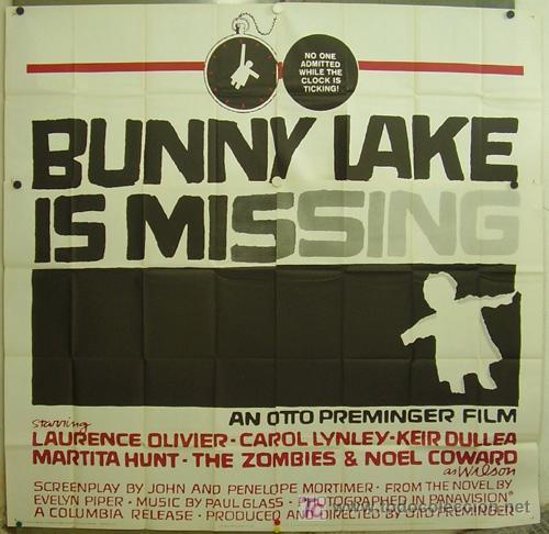 GA88D EL RAPTO DE BUNNY LAKE OTTO PREMINGER SAUL BASS POSTER ORIGINAL 6 HOJAS AMERICANO 210X210 (Cine- Posters y Carteles - Drama)