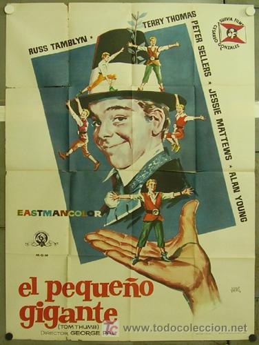 GB87 EL PEQUEÑO GIGANTE RUSS TAMBLYN PETER SELLERS JANO POSTER ORIGINAL 2 HOJAS 100X140 ESTRENO (Cine - Posters y Carteles - Musicales)