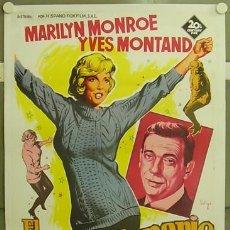 Cine: E1603D EL MULTIMILLONARIO MARILYN MONROE SOLIGO POSTER ORIGINAL 70X100 ESTRENO ENTELADO LITOGRAFIA. Lote 19414917