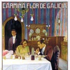 Cine: CINE MUDO.- CARMIÑA FLOR DE GALICIA.- LITOGRAFÍA, 1926, TAMAÑO 114X83 CM. REALIZADO POR ESTREMS.. Lote 47628829