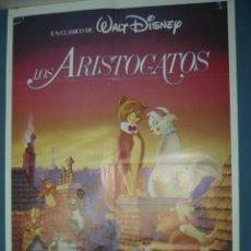 Cine: CARTEL DE CINE DE 1000X700 TITULO LOS ARISTOGATOS 1970 WALT DISNEY. Lote 10895722