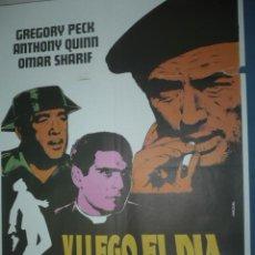 Cine: CARTEL DE CINE DE 1000X700 TITULO Y LLEGO EL DIA DE LA VENGANZA GREGORI PECK ANTHONI QUINN. Lote 10896226