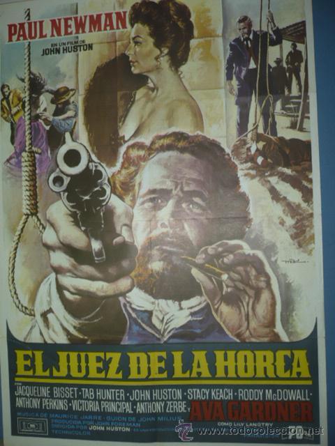 CARTEL DE CINE DE 1000X700 TITULO EL JUEZ DE LA HORCA PAUL NEWMAN AVA GADNER (Cine- Posters y Carteles - Drama)