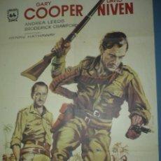 Cine: CARTEL DE CINE DE 1000X700 TITULO LA JUNGLA EN ARMAS GARY COOPER. Lote 10896664