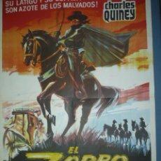 Cine: CARTEL DE CINE TAMAÑO 1100X750 TITULO EL ZORRO CABALLERO DE LA JUSTICIA. Lote 10901046