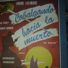 Cine: CARTEL DE CINE TAMAÑO 1000X700 TITULO CABALGANDO HACIA LA MUERTE. Lote 10901651