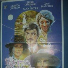 Cine: CARTEL DE CINE TAMAÑO 1000X700 TITULO EL RETORNO DEL SOLDADO GLENDA JACKSON. Lote 10902231