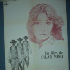 Cine: CARTEL DE CINE TAMAÑO 1000X700 TITULO GARY COOPER QUE ESTAS EN LOS CIELOS PILAR MIRO. Lote 10902571