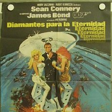Cine: XY86D DIAMANTES PARA LA ETERNIDAD JAMES BOND 007 SEAN CONNERY POSTER ORIGINAL 70X100 ESTRENO. Lote 10922041