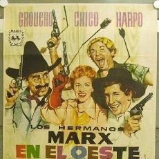 Cine: GD38 LOS HERMANOS MARX EN EL OESTE POSTER ORIGINAL 70X100 ESPAÑOL. Lote 100569394