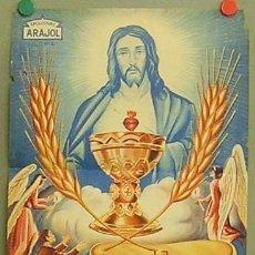 Cine: GD45 LA FIESTA DE LAS ESPIGAS ARAJOL JUAN ARAJOL CINE RELIGIOSO POSTER ORIG 33X47 ESTRENO LITOGRAFIA. Lote 15110345