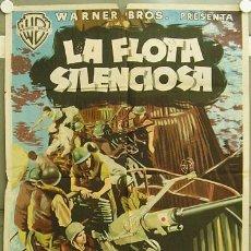 Cine: OT86D LA FLOTA SILENCIOSA JOHN WAYNE POSTER ORIGINAL 70X100 ESTRENO LITOGRAFIA. Lote 15315774