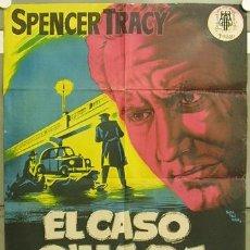 Cine: CCJ GD53 EL CASO O'HARA SPENCER TRACY JOHN STURGES MONTALBAN POSTER ORIG 70X100 ESTRENO LITOGRAFIA. Lote 10974418