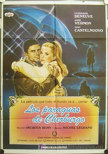 GF98 LOS PARAGUAS DE CHERBURGO JACQUES DEMY CATHERINE DENEUVE POSTER ORIGINAL 70X100 ESPAÑOL (Cine - Posters y Carteles - Musicales)